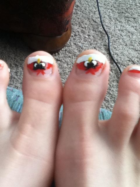 My Angry Bird toe nails (: | Can Lauren Do It?!?!??? | Pinterest ...