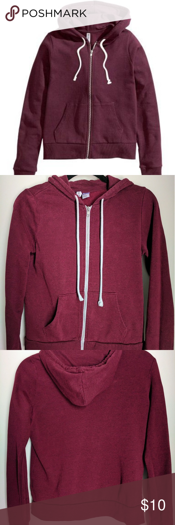 H&M Hoodie Burgundy | Hoodie, Customer support and Delivery