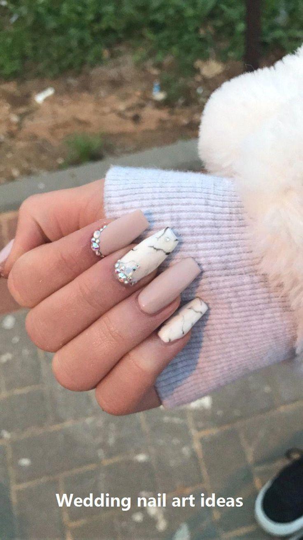 35 eenvoudige ideeën voor bruiloft nagels Ontwerp #nailartideas #nailart – #design #ideas #nailar