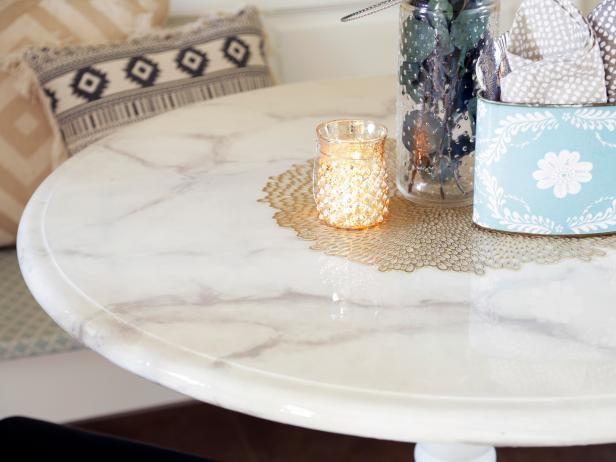 Flea Market Flip: DIY Faux Marble Dining Table