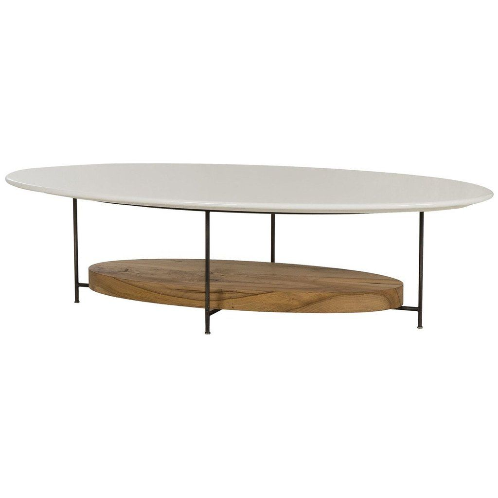 Thomas Bina Olivia Coffee Table White Lacquer Coffee Tables