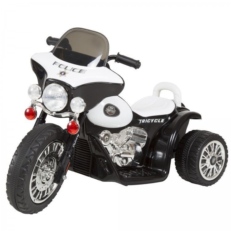 Mini Motorcycle Police Bike Three Wheel Kids Ride On Toy Battery