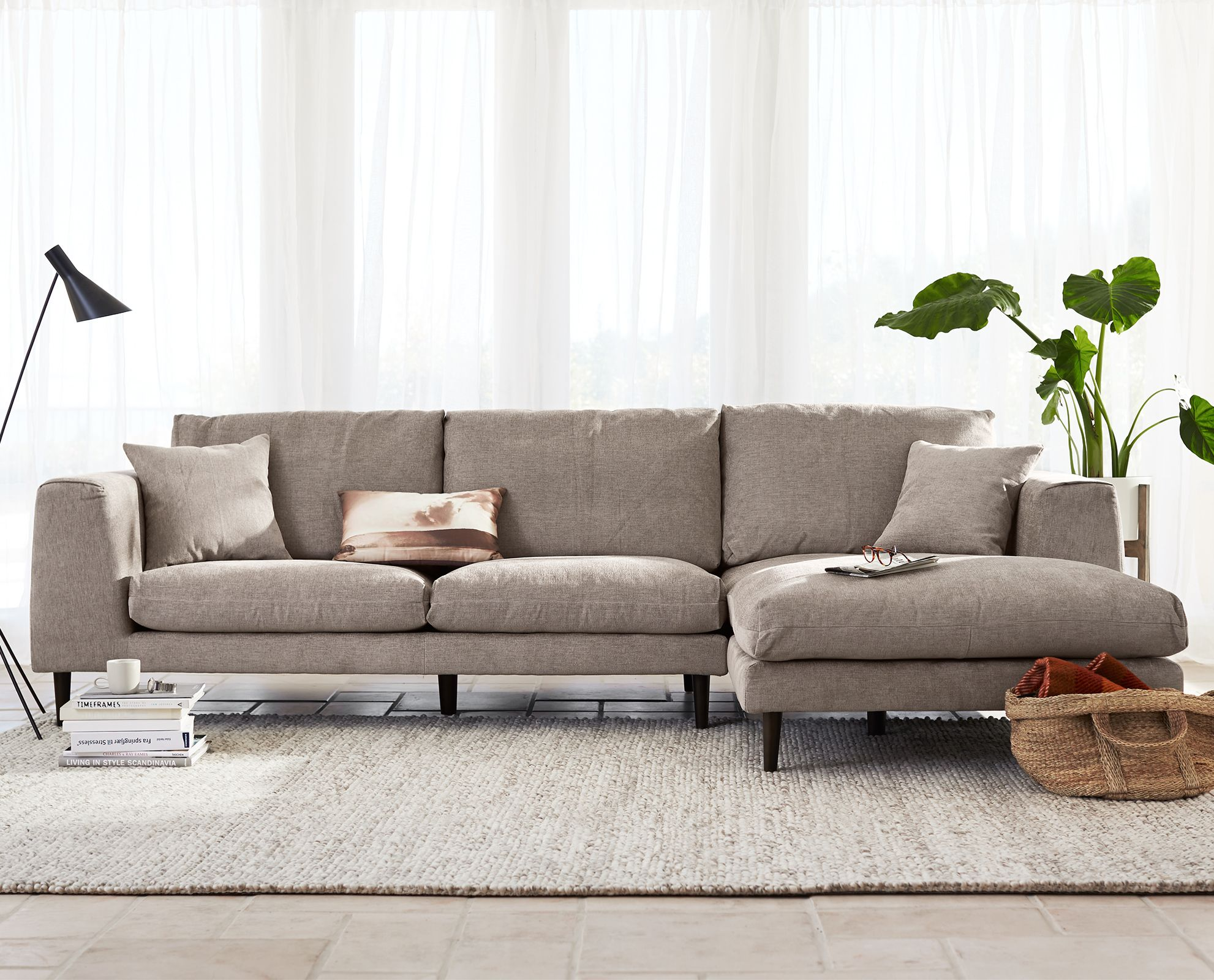 Jorgen Chaise Sectional From Dania Furniture Co. #sectional #sofa #chaise  #scandinavian #modern #scandistyle #inspiration #dania