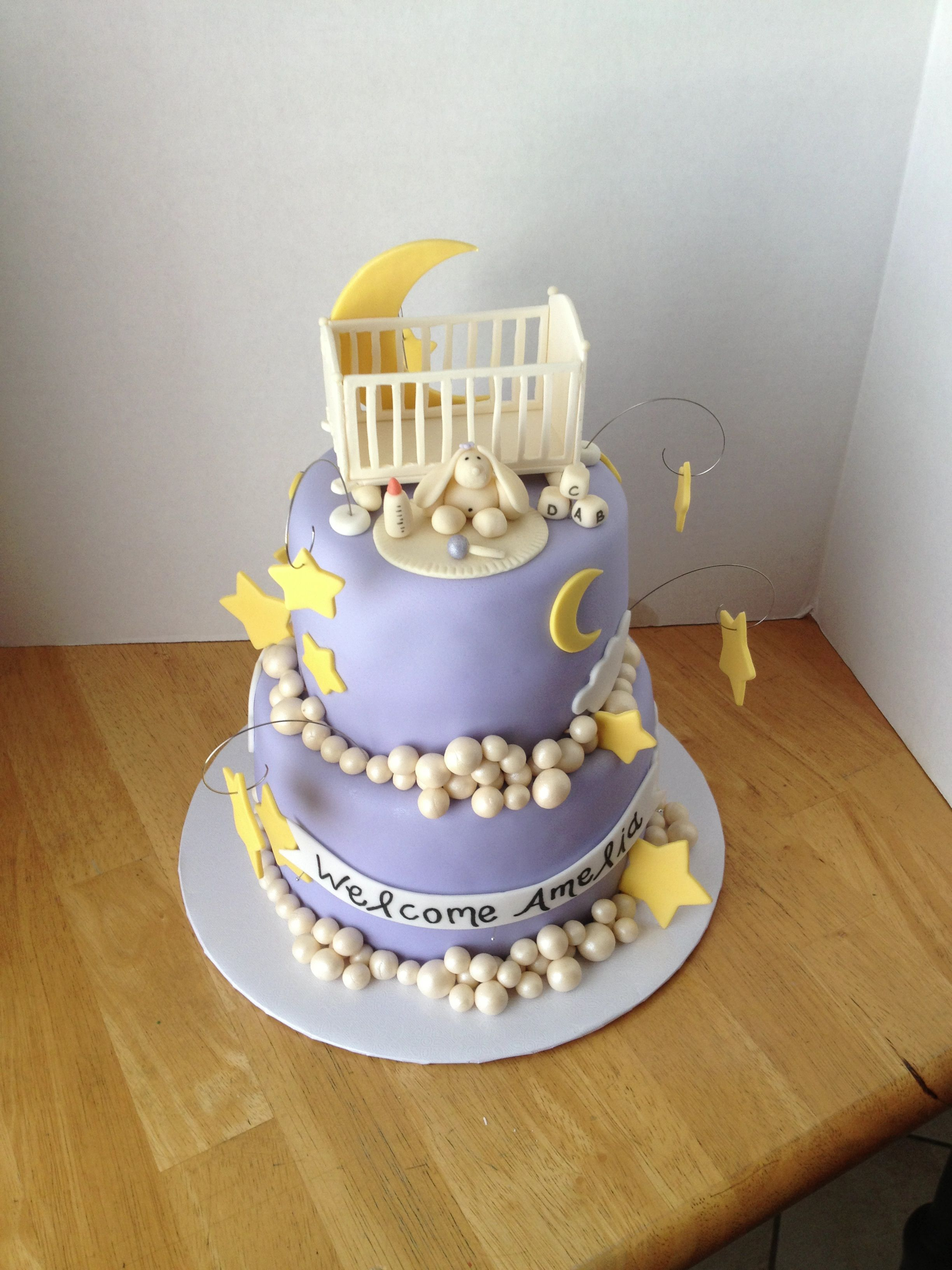 Baby Shower Cake Moons And Stars My Cakes Pinterest Shower