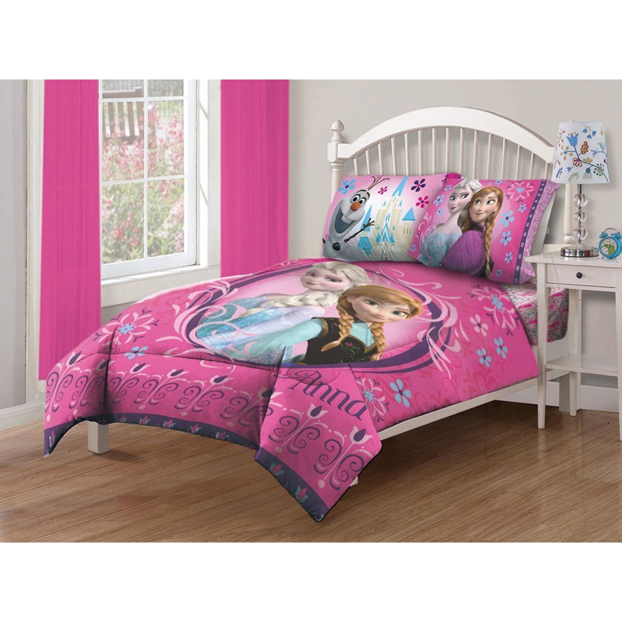 Disney Frozen Nordic Florals 4 Piece Bed In A Bag With Sheet Set