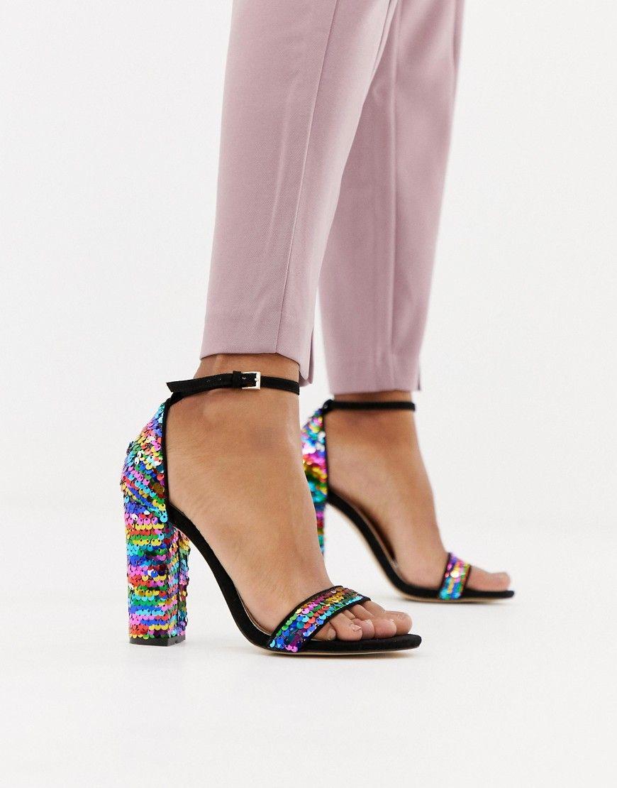 High Heels Sandalen silber metallic von Miss Selfridge
