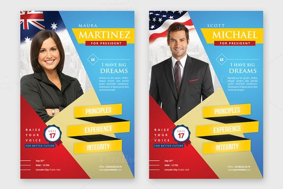 Election Campaign Political Flyer By Hindia Studio On Creative - Political campaign brochure template