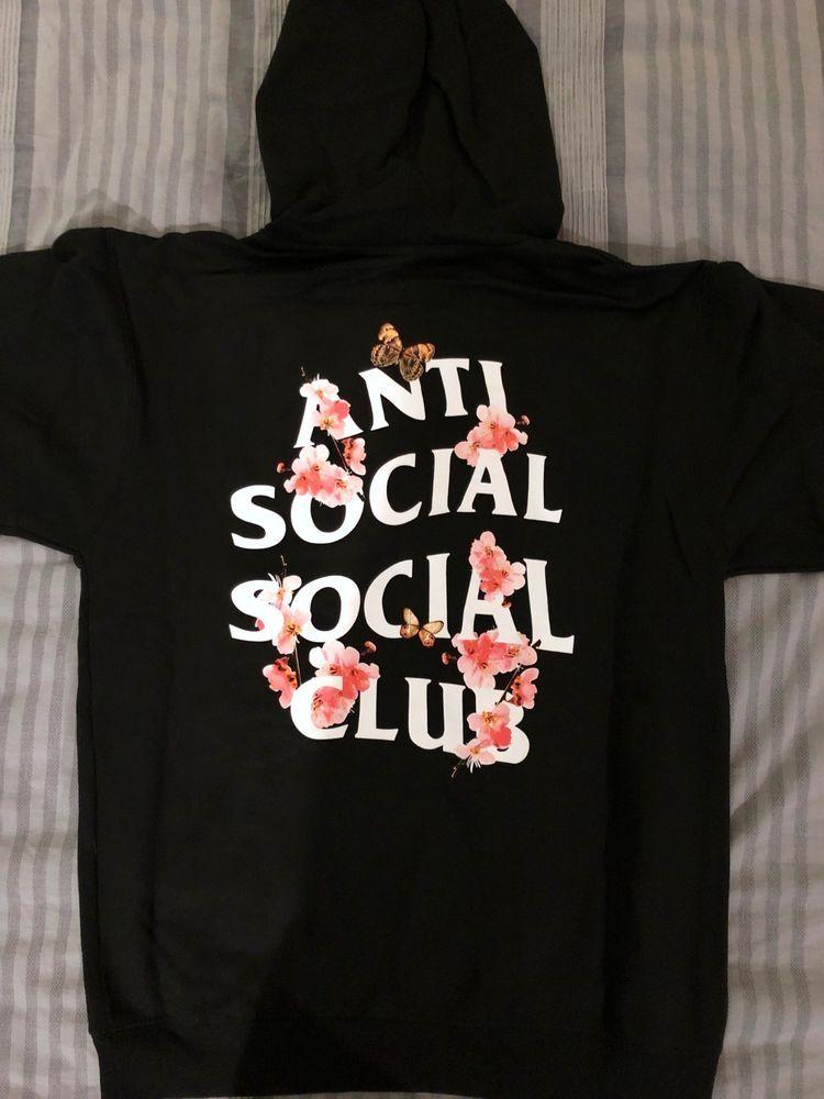 0c3ea16448aa Anti Social Social Club KKOCH BLACK Hoodie ASSC Pink Floral — NEW Small S   AntiSocialSocialClub  Hoodie