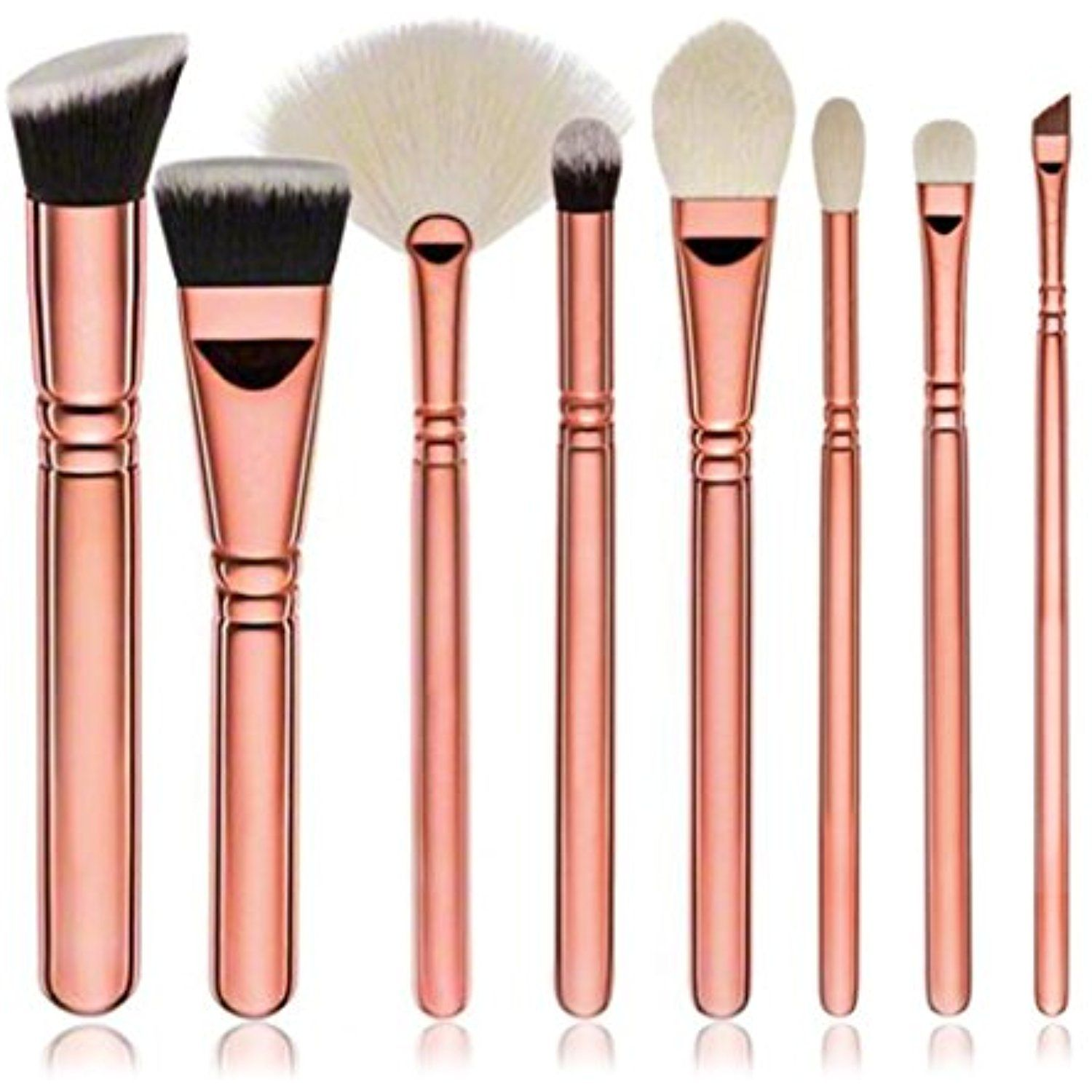 Yoyorule 8pcs Cosmetic Makeup Brush Blusher Eye Shadow