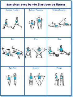 Elastique de musculation, exercices de fitness   Elastique