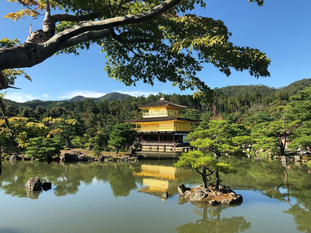 Breathtaking view at #kinkakujitemple  #goldenpavilion #kinkaku #kinkakuji #kyoto #kyotojapan #japan #japantravel #solotravel #traveljapan #beautiful #gold #temple #golden #gardens #nofilter