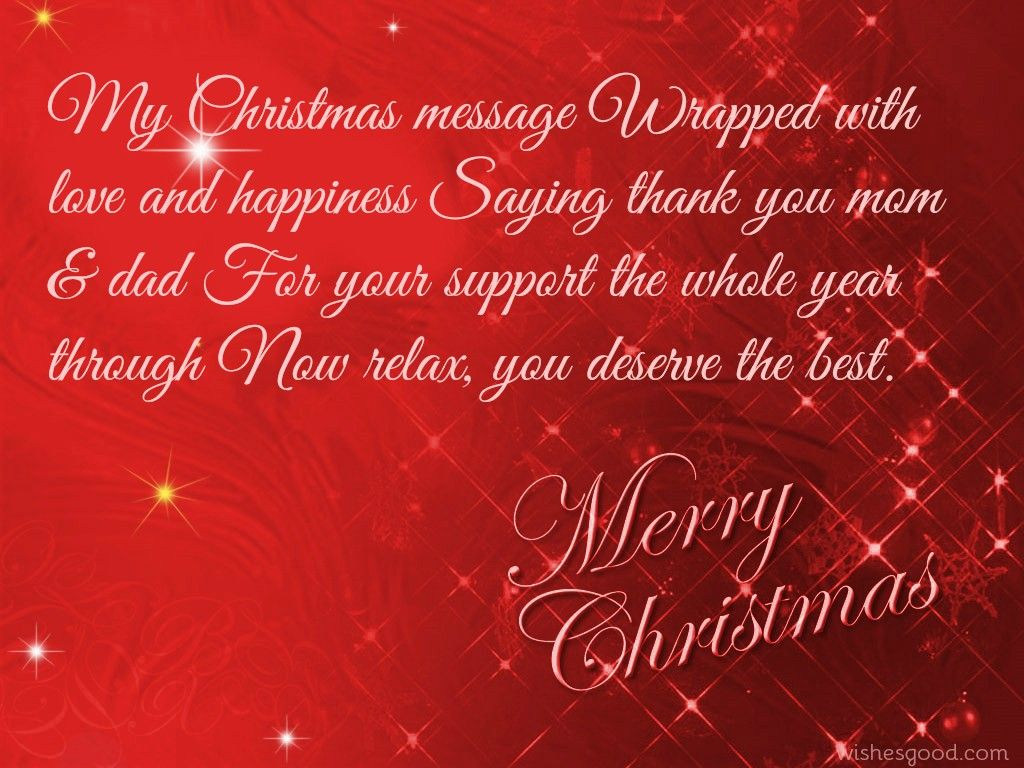 Xmas wishes for parents | Merry Christmas Wishes & Images ...