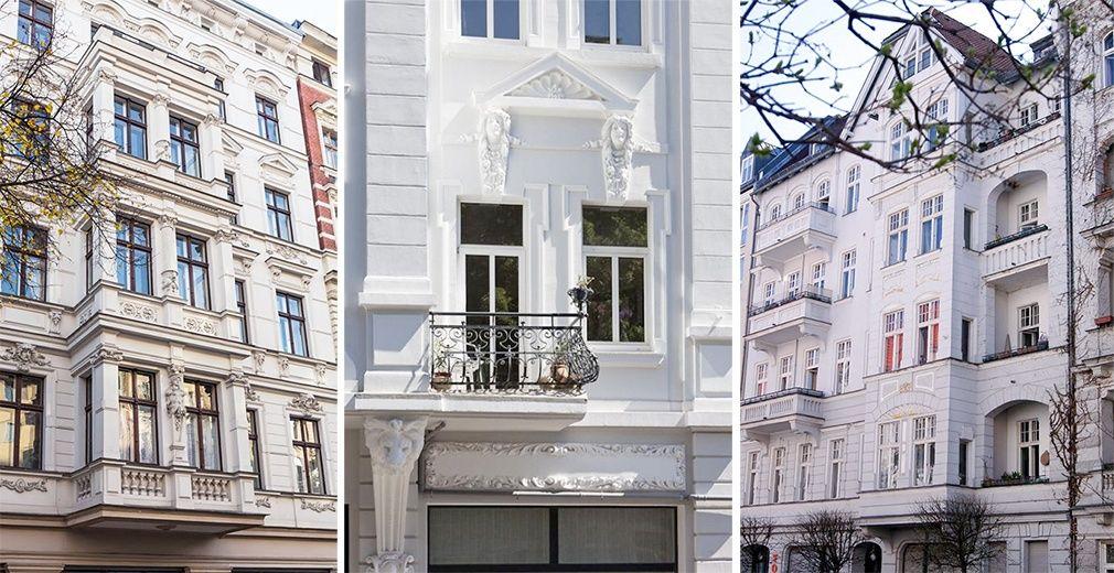 Altbau Fassaden in verschiedenen Städten