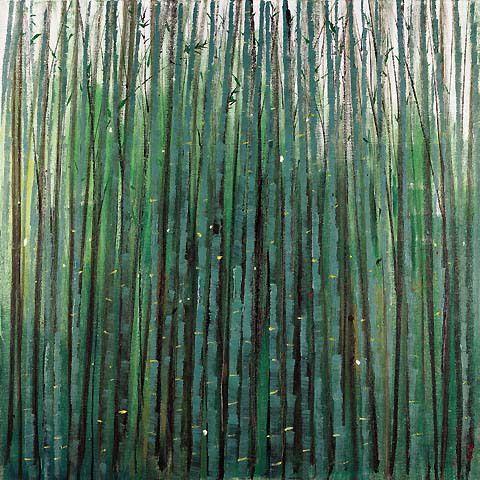 Wu Guanzhong, A Sea of Bamboo