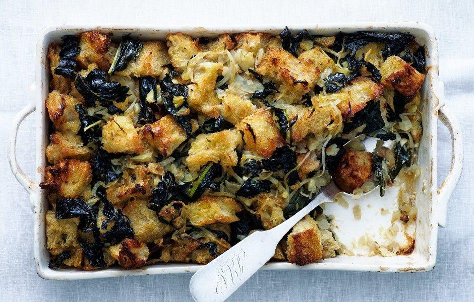 kale dressing thanksgiving stuffingvegetarian