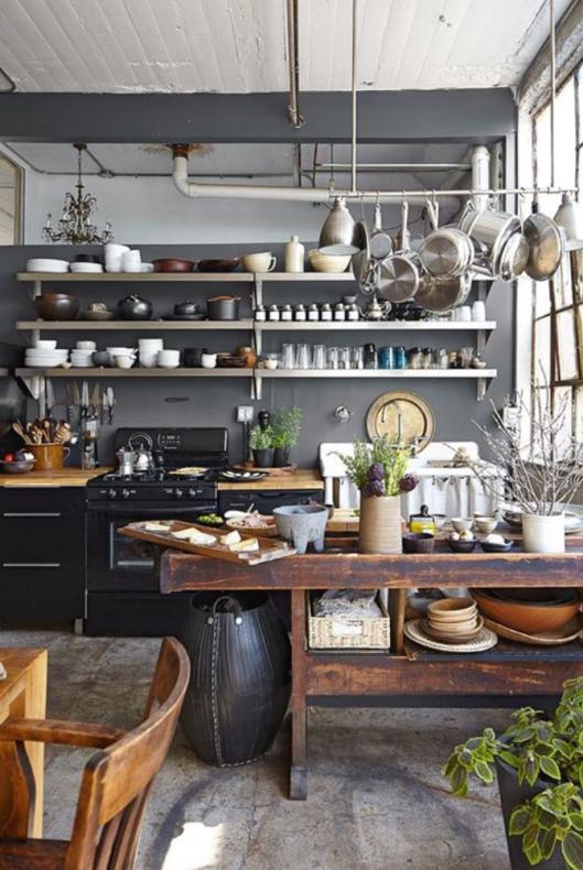 18 imágenes de cocinas sin armarios cerrados | Cocinas, Decoración y ...
