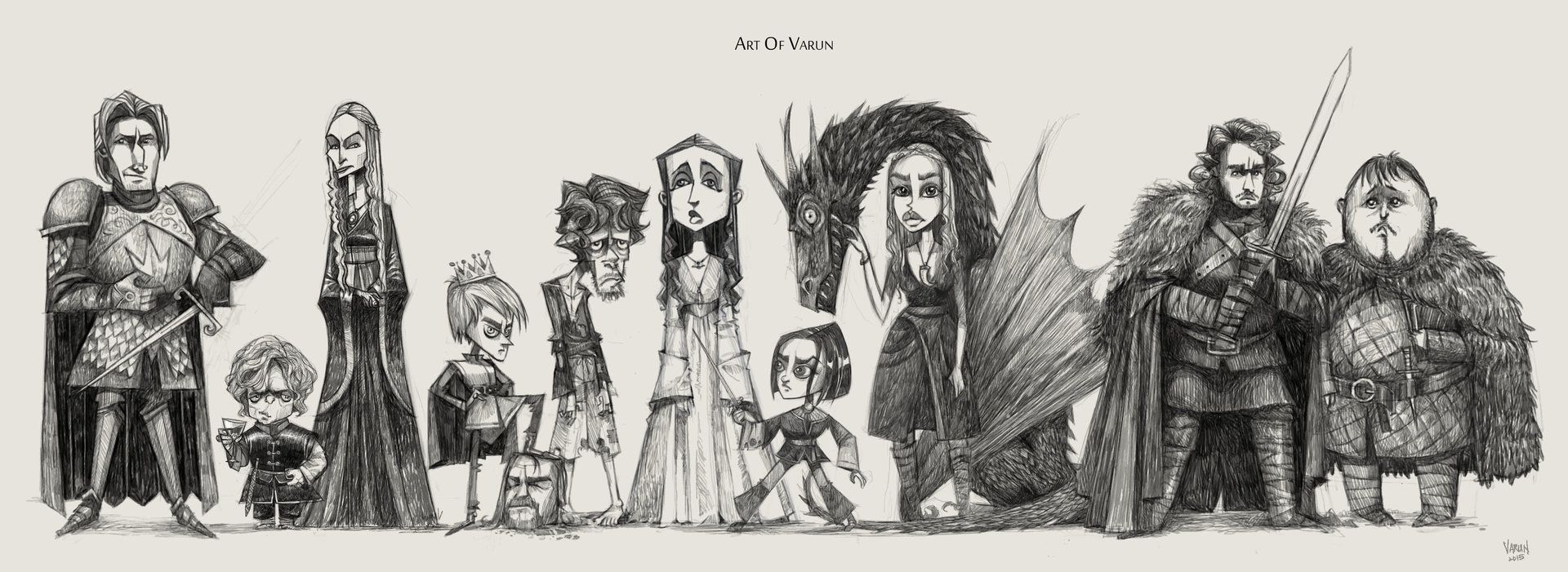 ArtStation - Game of Thrones Character Lineup, Varun Nair