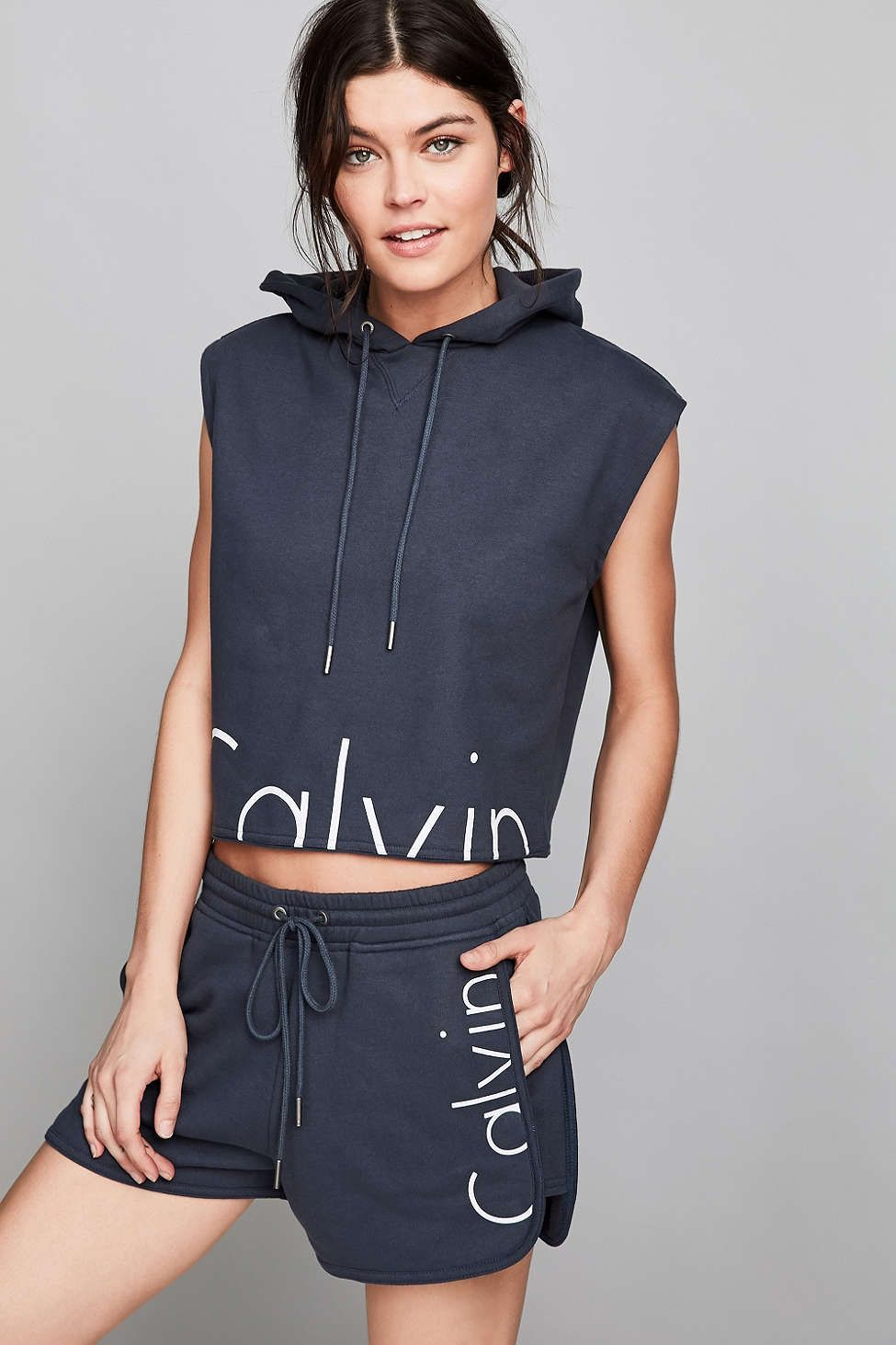 9a33d5fadb1 Calvin Klein For UO Capsule Drawstring Sweat Short - Urban Outfitters