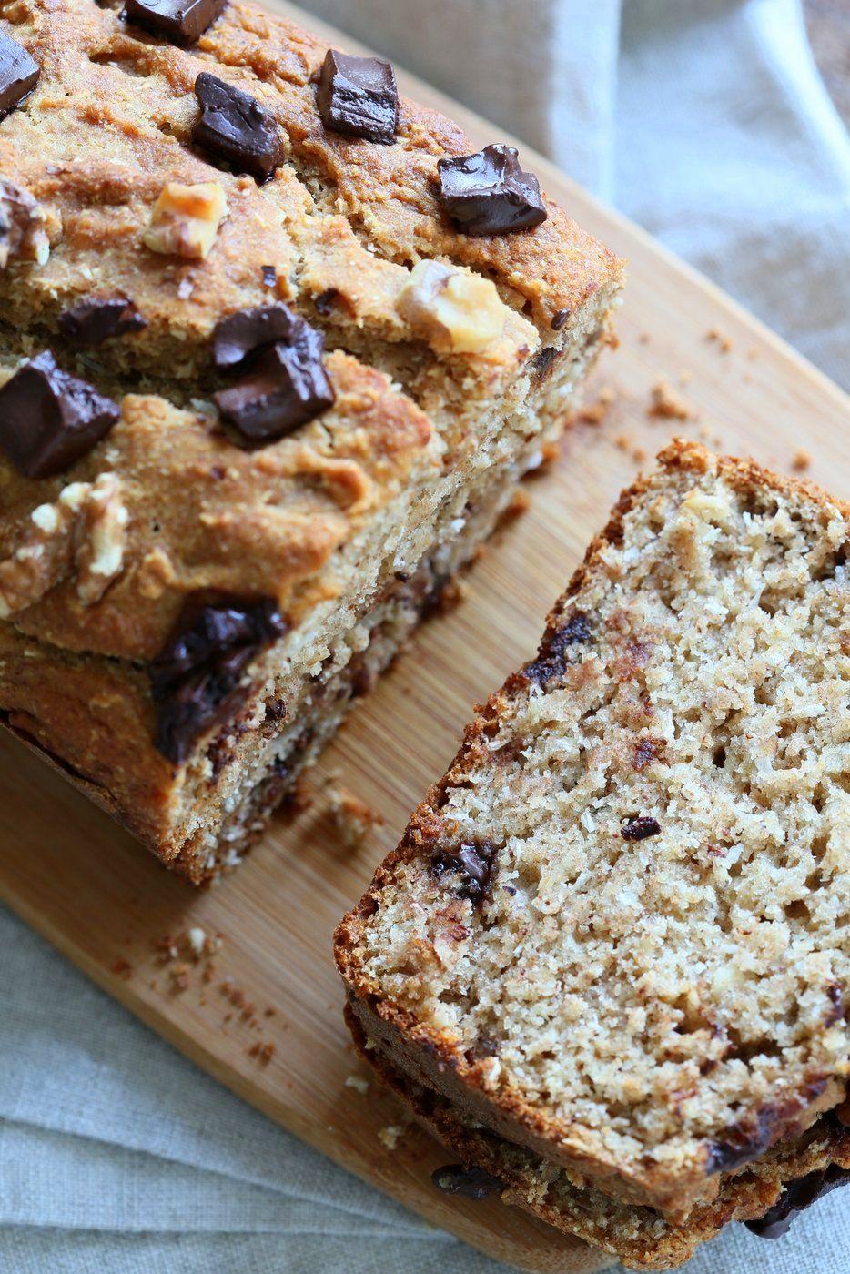 Vegan Banana Bread With Toasted Walnuts And Coconut 1 Bowl Vegan Richa Recipe Vegan Banana Bread Super Moist Banana Bread Banana Walnut Bread