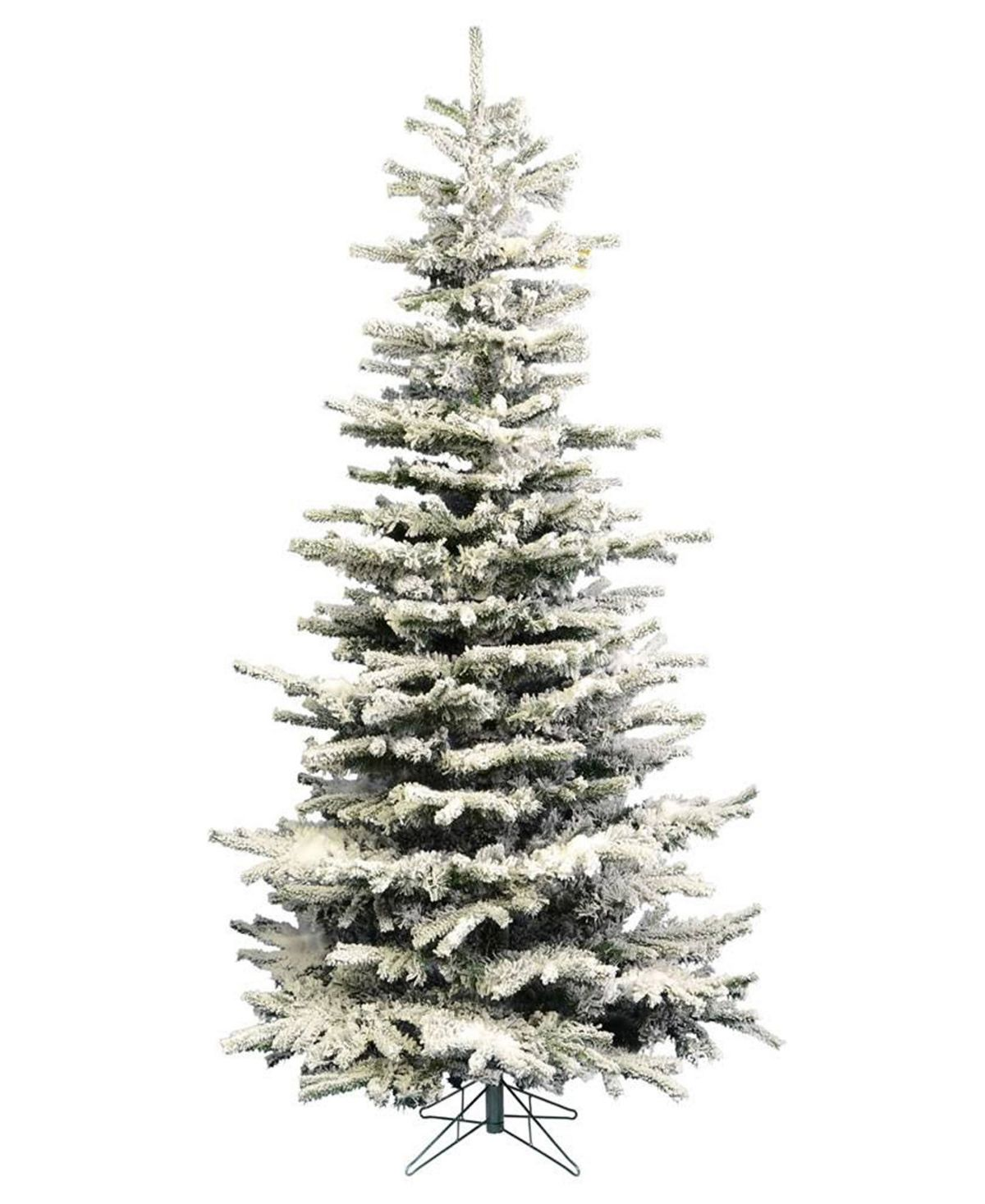 Perfect Holiday 9ft Pre Lit Flocked Slim Christmas Tree With Warm White Led Lights Flocked Christmas Trees Slim Artificial Christmas Trees Slim Christmas Tree Pre lit slim christmas tree