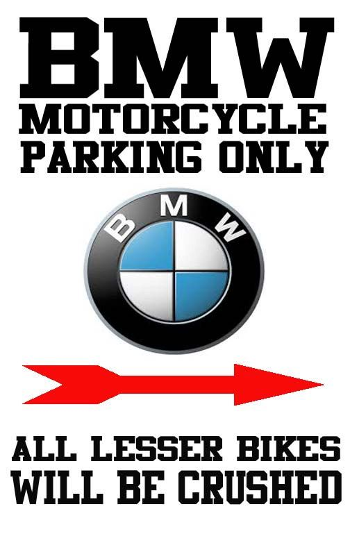 BMW Motorcycle Only Parking Sign By CustomizingLife On Etsy For - Bmw parking only signs