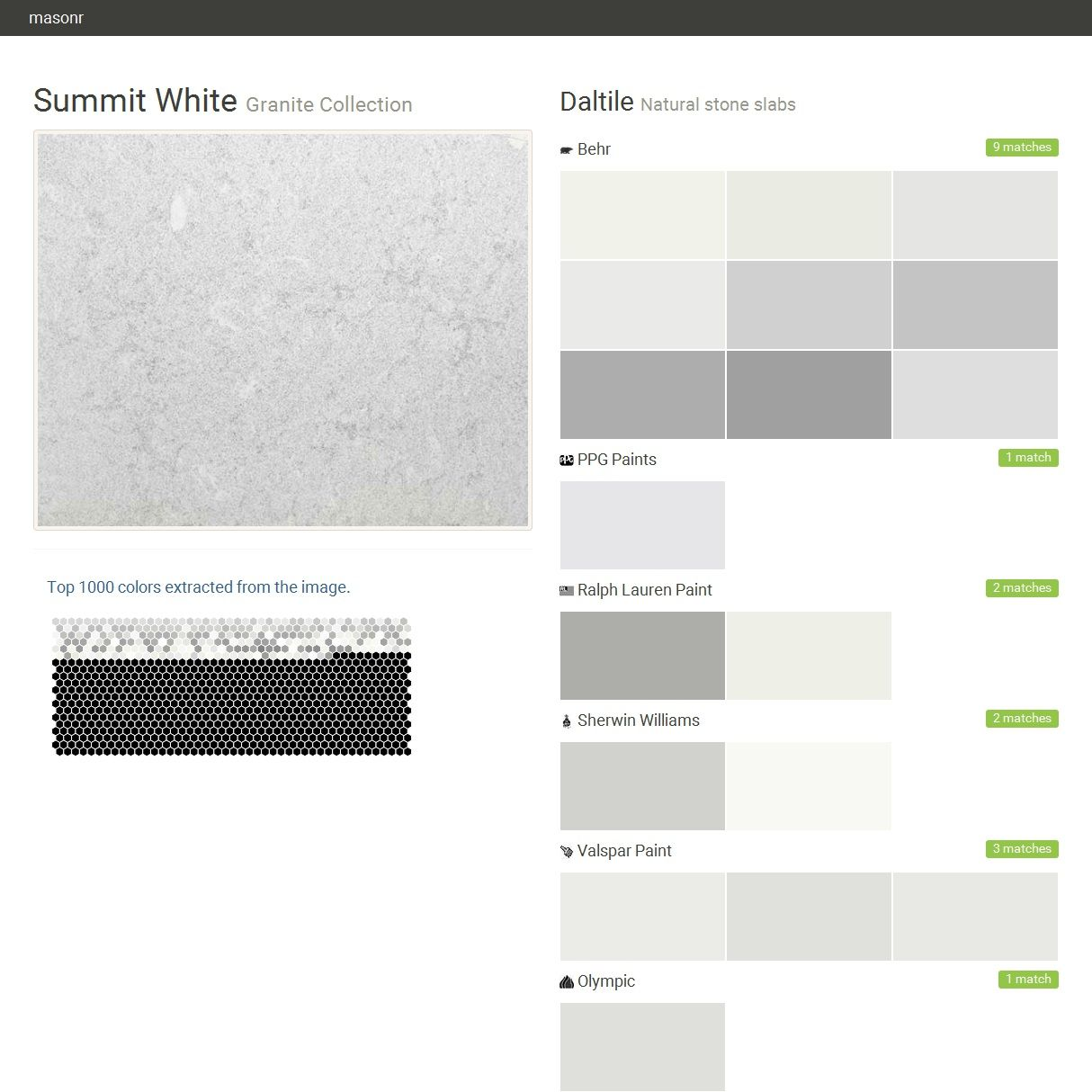 Summit White. Granite Collection . Natural stone slabs. Daltile ...
