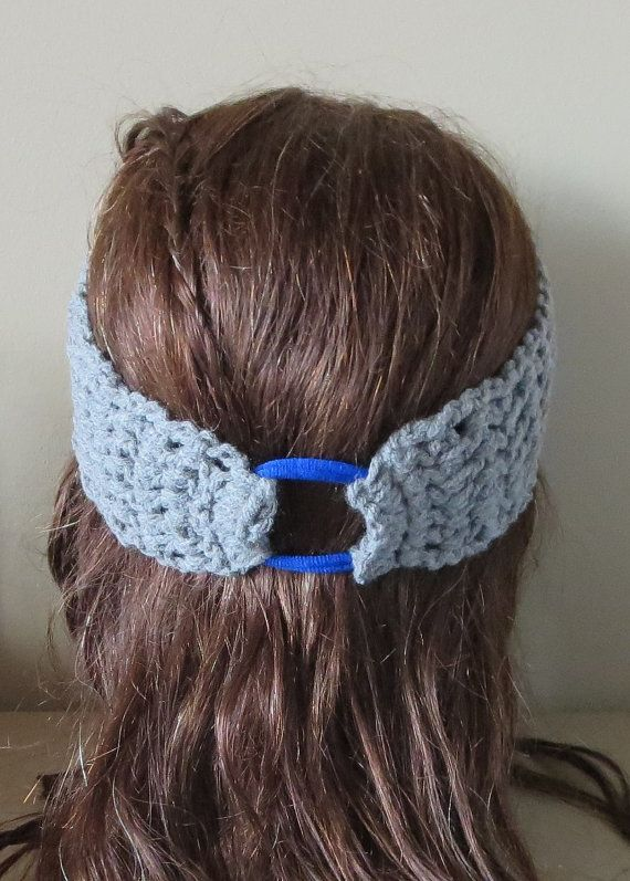 Crochet Headband  Yoga Band  Ti Stephani Comfort by TiStephani, $14.00