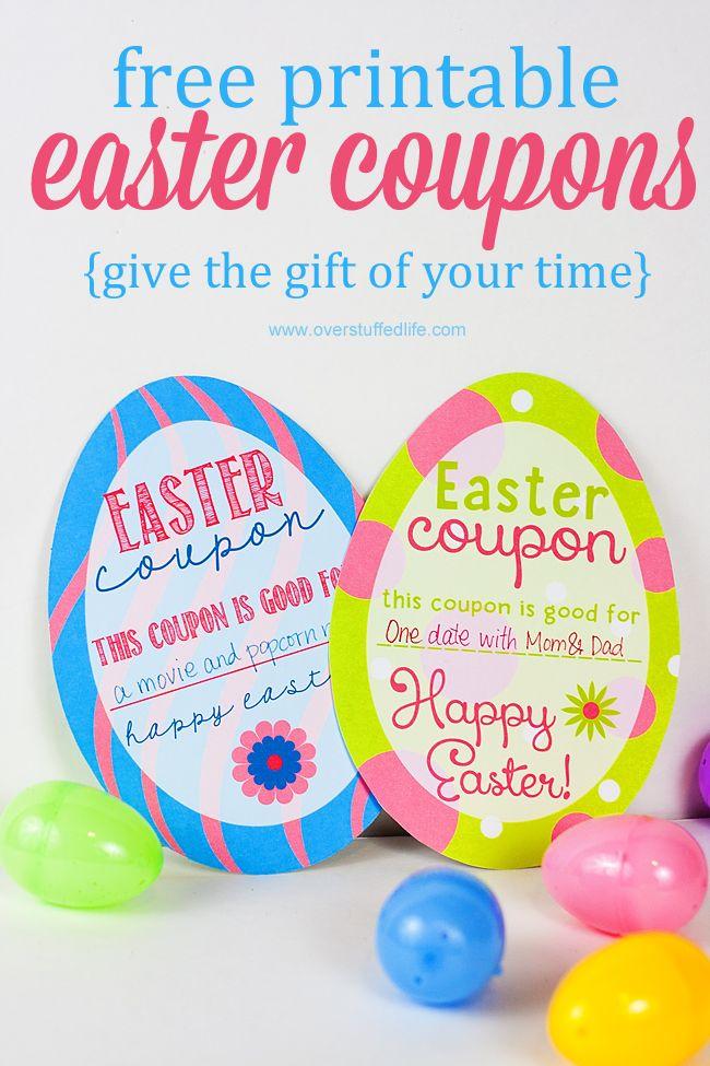 Printable Easter Egg Coupons Easter Printables Free Easter Diy Kids