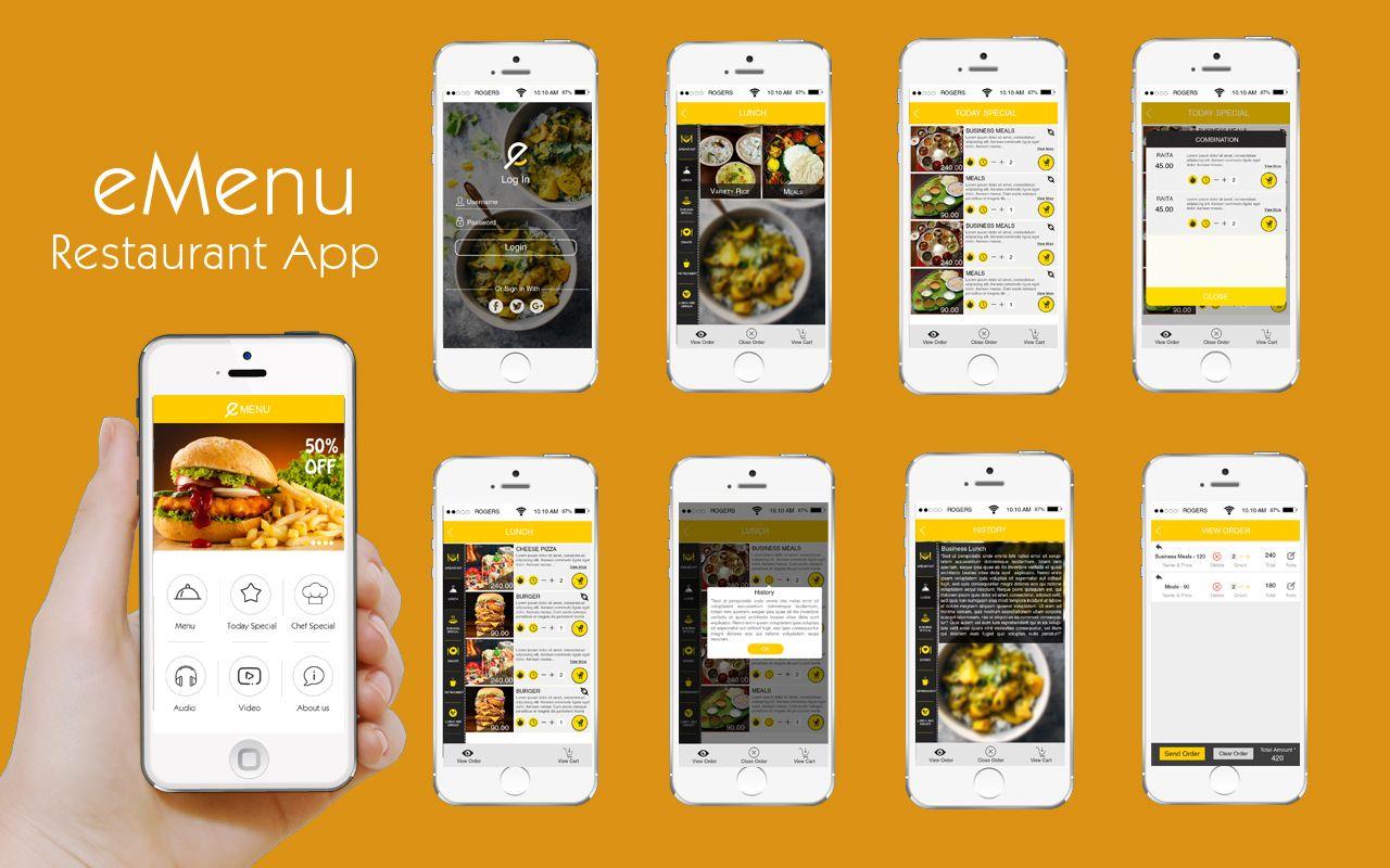 eMenu is the perfect mobile menu app for hotels