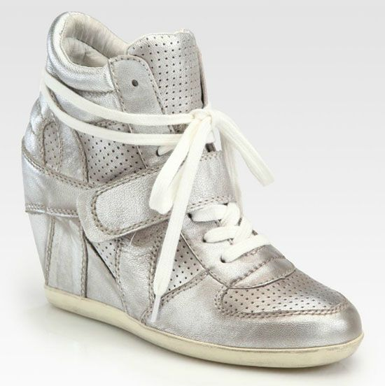 84f0a51e3d8a Ash Bowie Wedge Sneakers in Metallic Silver