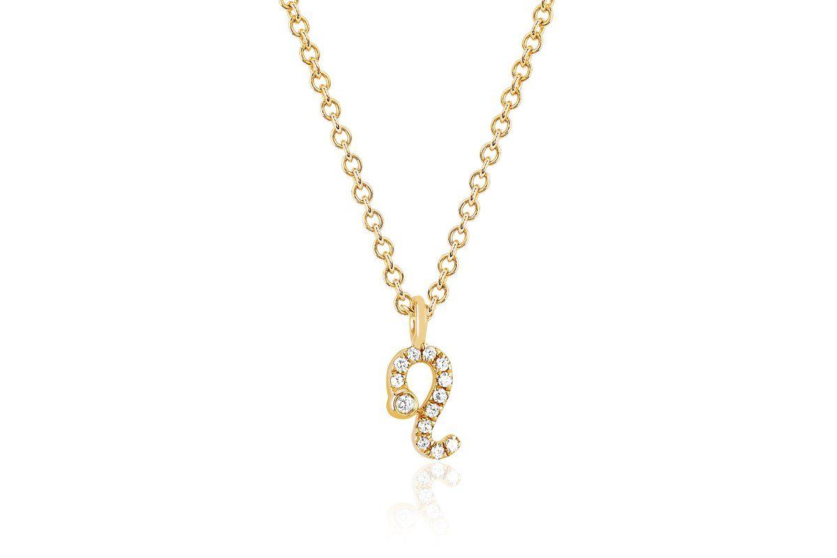 Diamond Leo Necklace Leo Necklace Necklace Diamond