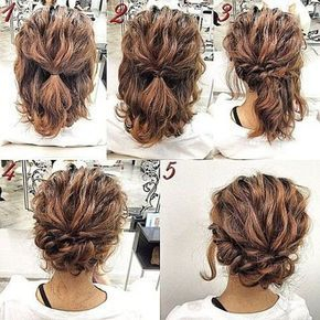 Looking For A Short Hair Updo Style For Prom Look No Further Than These Tutorials They Are Quick And Ea Simple Prom Hair Short Hair Updo Short Hair Tutorial