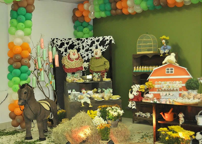 Country birthday party ideas country style birthday for Farmville 2 decorations