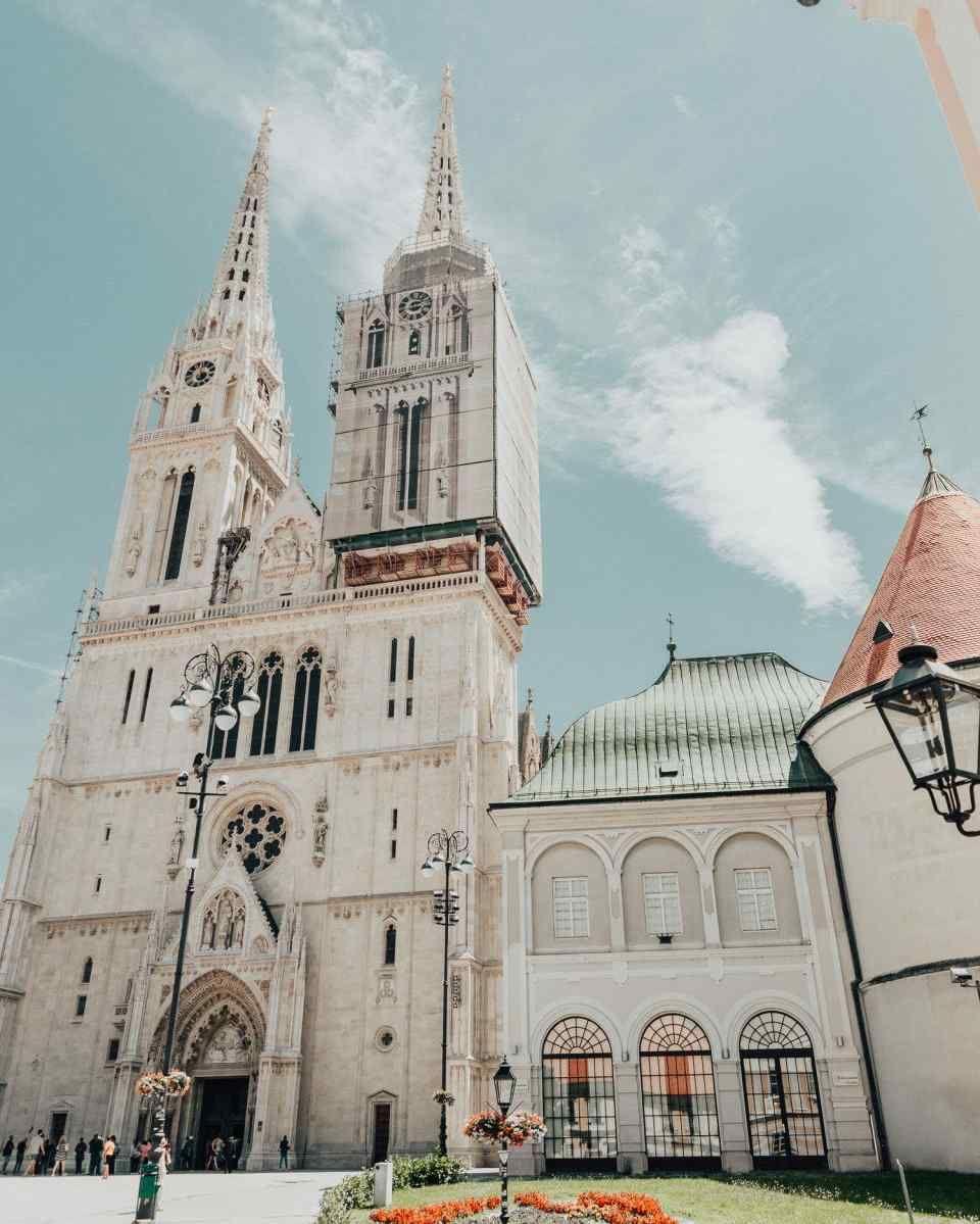 Zagreb Cathedral In Croatia Zagreb Croatia Sailing Croatia