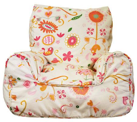 Spring Posies beanbag chair for kids