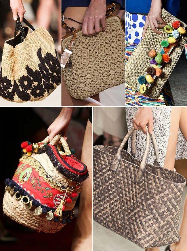 30eda94d1699 плетеные и соломенные сумки, тенденции сумок весна-лето 2015   Bags