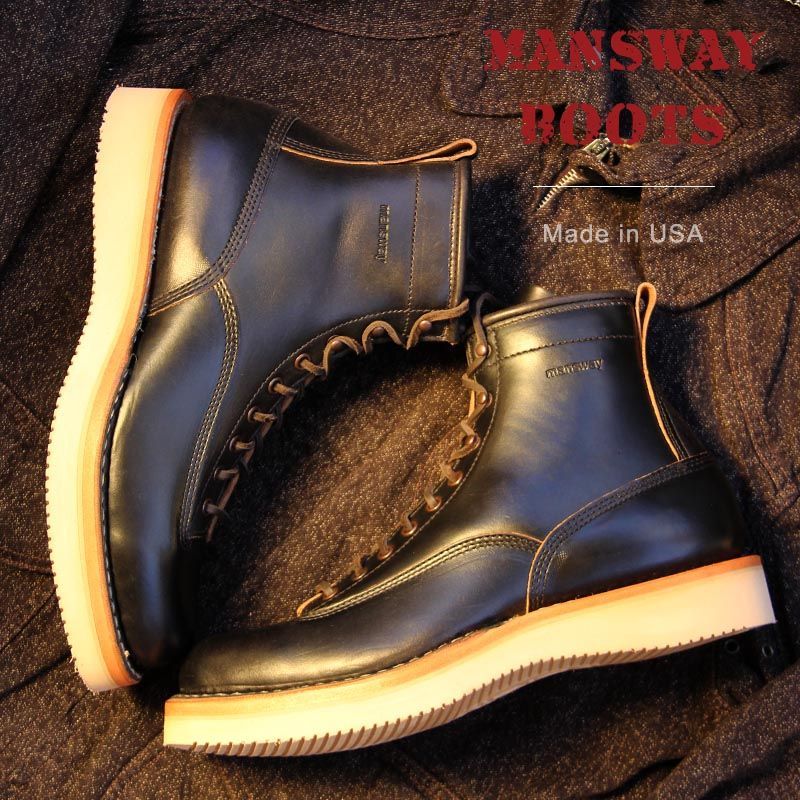 Mansway Boots Lace Toe Toe Made With Vibram Crepe Sole Leather Midsole Horween Leather And Leather L Mens Boots Fashion Mens Leather Boots Chelsea Boots Men