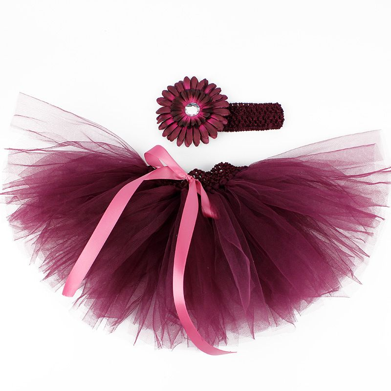 Awesome Baby Girl Skirts Newborn Tutu Tulle Headwear Flower Sets Christening Kid Clothes
