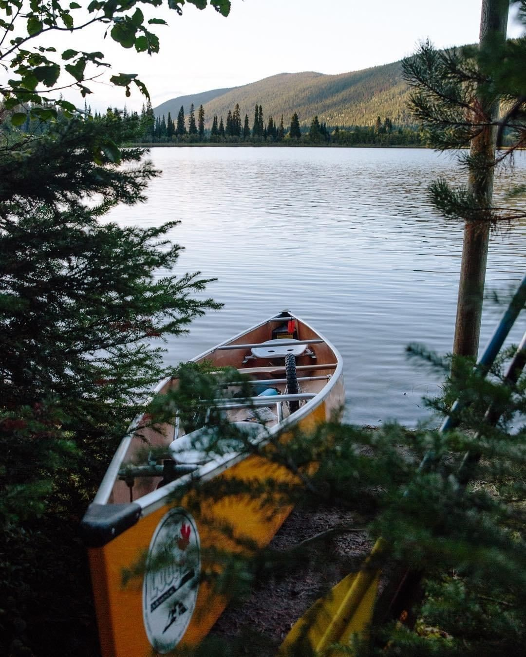 Destination British Columbia On Instagram Paddle Through The Bowron Lakes Canoe Circuit A 116km 72mi Route That Takes You In 2020 Waterway British Columbia Canoe