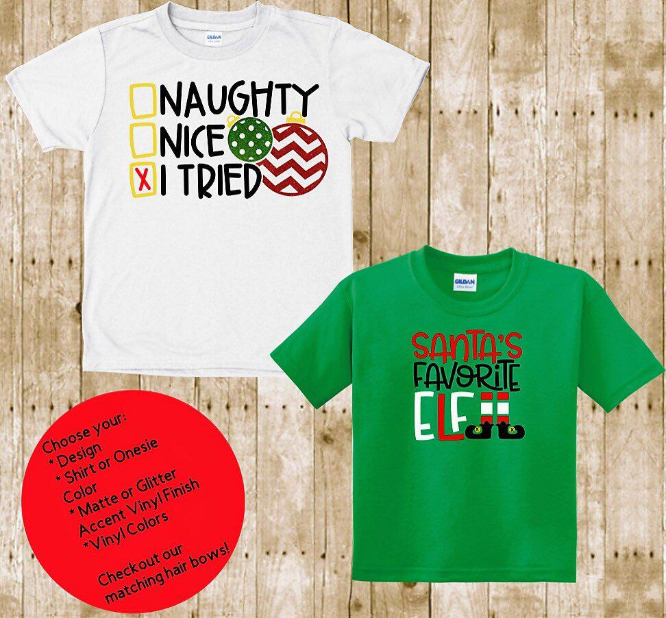 407a32f4 Excited to share this item from my #etsy shop: Kids Christmas Long & Short  Sleeve shirt   Adult Christmas Shirts   Baby Toddler Christmas Shirt   Funny  ...