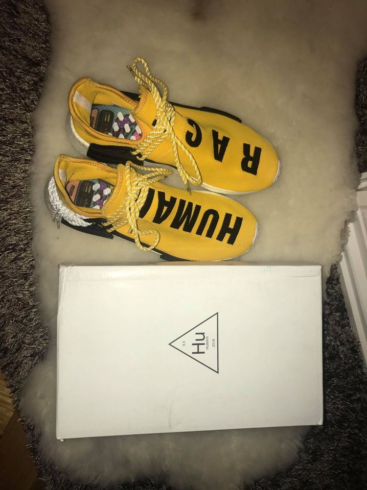 10a78e1295426 Adidas x Pharrell Williams NMD Human Race Yellow - SIZE 11  fashion   clothing  shoes  accessories  mensshoes  athleticshoes (ebay link)