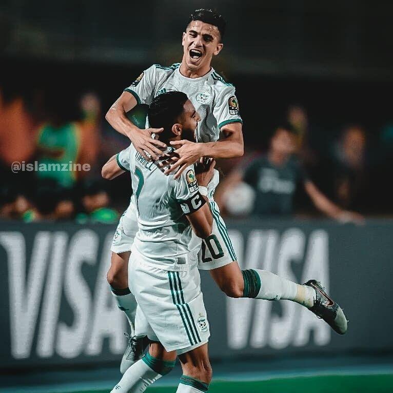Youcef Atal Riyad Mahrez Sports Football Running