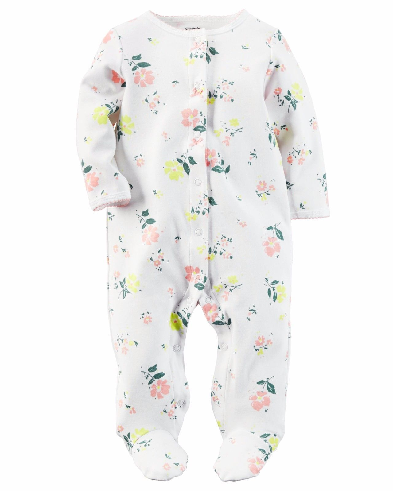 49ad1d41c NEW NWT Girls Carter s 9 Months Sleeper Sleep and Play Muted Floral ...