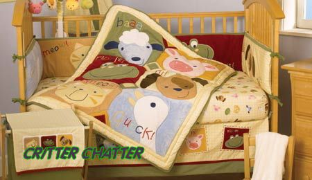 Farm Nursery Theme Baby Crib Bedding Sets Animals Cows Pigs Ducks Lambs Lamb Pig Duck Goose