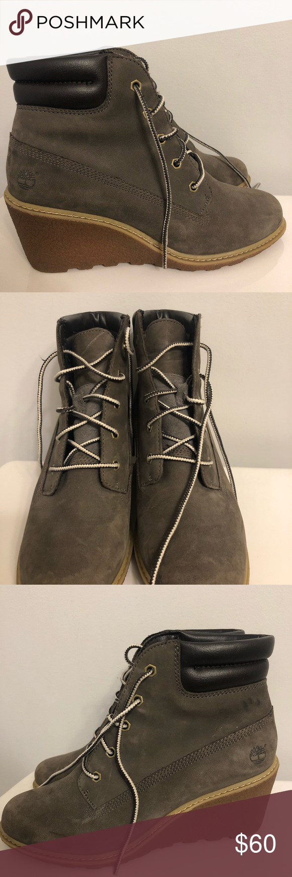 Timberland wedge boots! ???????????? Fall is coming!  These boots look great paired with skinny jeans or joggers! ???? Timberland Shoes Ankle Boots & Booties #skinnyjeansandankleboots