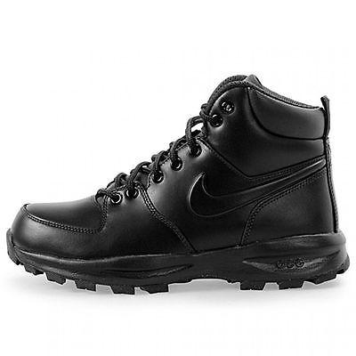 6e1e3e8655 Nike Manoa Leather Mens 454350-003 Black Acg Boots Trail Outdoor Shoes Size  9