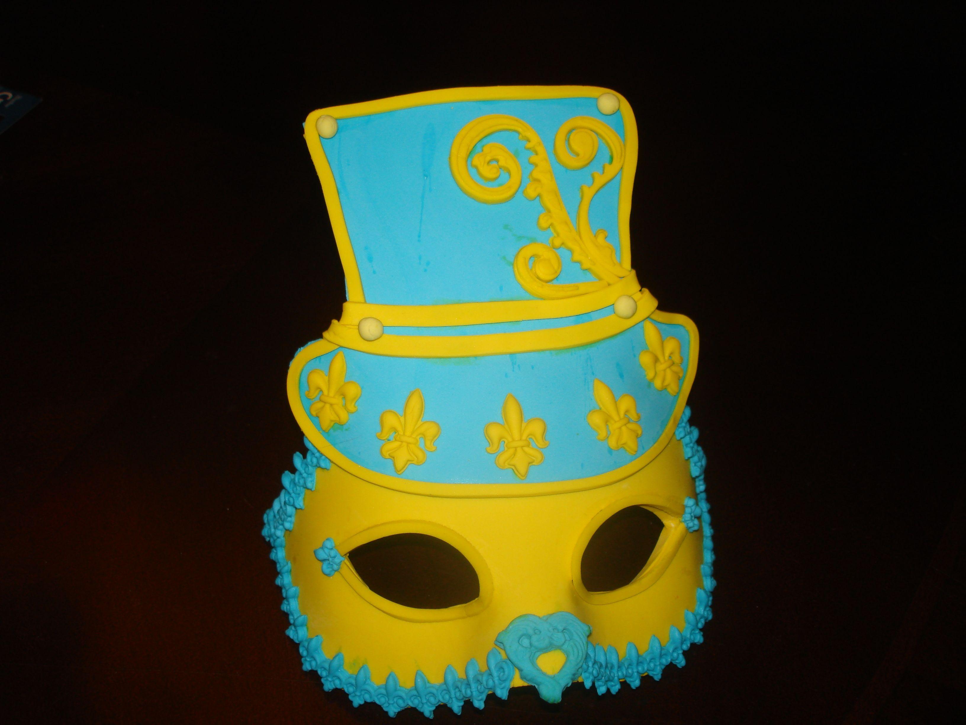 Beautiful job by my sister Kris / gum paste mask | My Wilton Classes ...