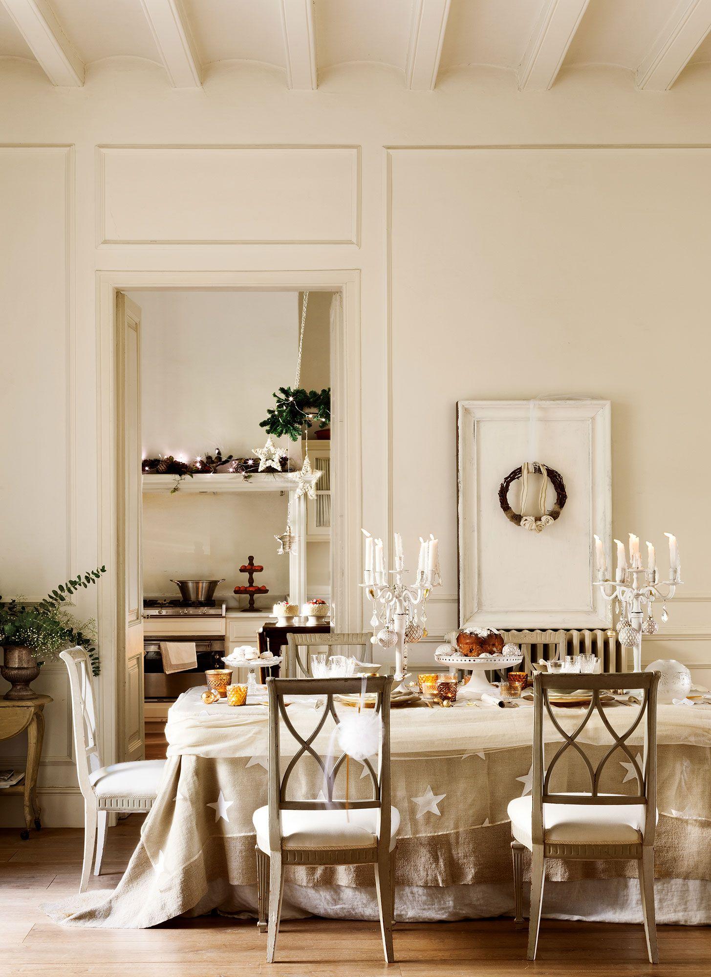 Comedor en blanco vestido de Navidad | EL MUEBLE | Pinterest ...