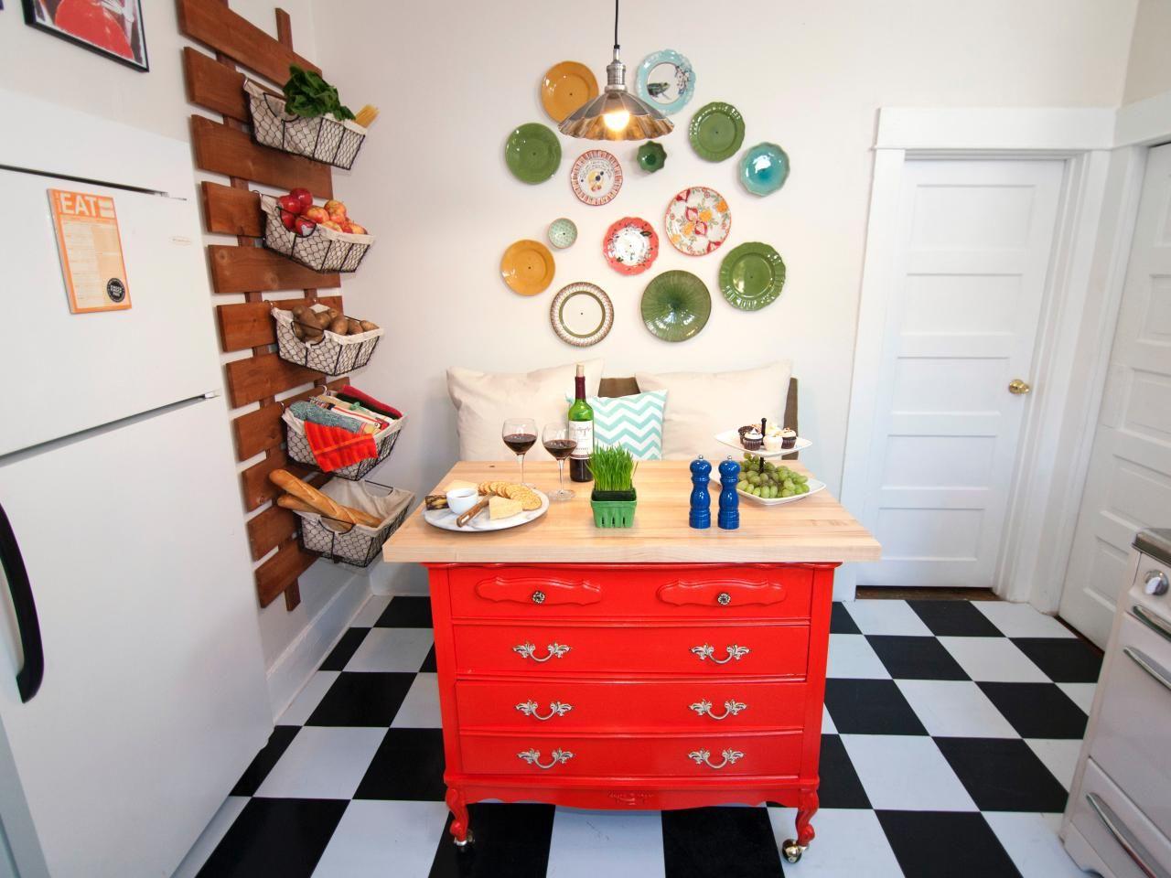 Photos   Design On A Dime   HGTV kitchen island diy   DIY projects ...