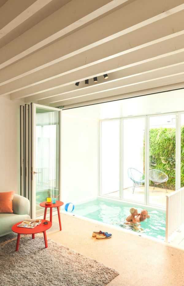 An Existing Home & Modern Addition Become One | Indoor swimming ...